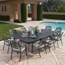 gray patio furniture. Veranda Classics™ San Marino Grey 11-piece Dining Set Gray Patio Furniture