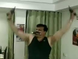 Video Pistol In Each Hand And Between His Teeth Bjp Mla Drinks And