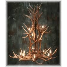 hidalgo elk antler chandelier 6 antler 9 light