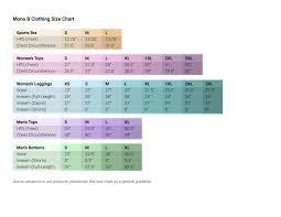 B Swim Size Chart Mono B Size Chart