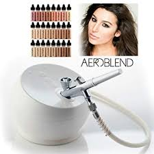 amazon deluxe 2 0 battery 2019 aeroblend airbrush makeup pro starter kit professional cosmetic system 24 color full 1 year warranty beauty
