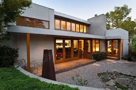 Exterior patio of modern home - California outdoor living by MGS  architecture contemporary-exterior