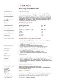 Resume Examples For Teacher Assistant Amazing Teacher Assistant Resume Example Best Resume Collection