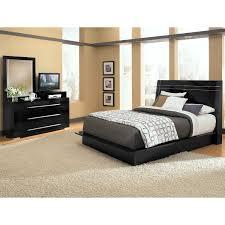 Dimora 5-Piece Queen Panel Bedroom Set with Media Dresser - Black ...