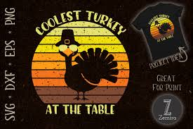 ✓ free for commercial use ✓ high quality images. Thanksgiving Coolest Turkey At The Table Graphic By Zemira Creative Fabrica