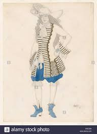 La Designs Costumes Costume Design For A Courtier Likely For The Ballet La