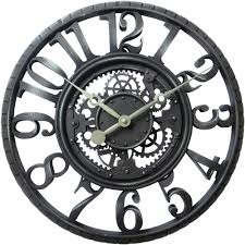 full image for impressive gear wall clock 83 moving gear wall clock india