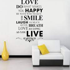 wall stickers removable art words vinyl