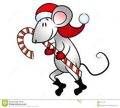 Christmas Mouse Candy Cane Stock Photo - Image: 3473150
