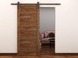 image of single modern sliding barn door hardware