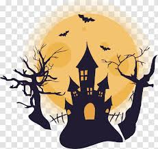 <b>Halloween Castle</b> - Illustration - <b>Pattern</b> Transparent PNG