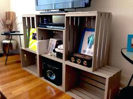 diy crate furniture entertainment center from crates diy dog crate table