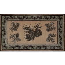 pine cone bath rug