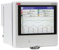 Electronic Chart Recorder Abb Rvg200 12 Channel Paperless Chart Recorder Measures Current Millivolt Resistance Temperature Voltage
