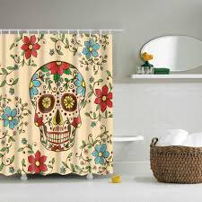 Skull Bedroom Curtains Online Get Cheap Bathroom Curtain Styles Aliexpresscom Alibaba