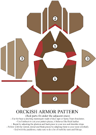 Leather Armor Patterns Adorable Orckish Armor Pattern By Zapan48 On DeviantArt