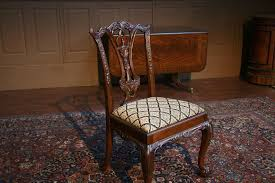 solid mahogany dining chairs shown with client supplied fabric