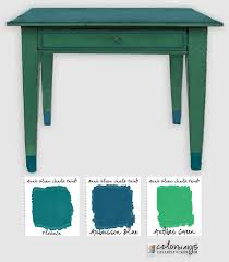 Annie Sloan Blues Greens Colorways With Leslie Stocker