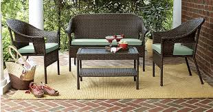 Kmart 40% f Patio Furniture = 4 Piece Wicker Set w