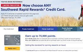 The standard amount is 40,000 points for spending $1,000 in three months. Dead All Southwest Personal Cards 75 000 Points Signup With 5 000 Spend In 6 Months Public Referral Offers Doctor Of Credit