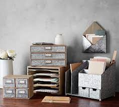 Office decor accessories Workstation Brokers Wood Galvanized Home Office Collection Pottery Barn Office Accessories Desk Accessories Office Decor Pottery Barn