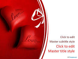 Heart Powerpoint Templates Free Love And Hearts Ppt Template