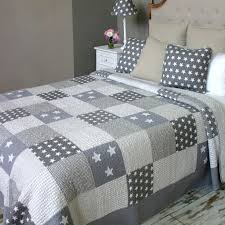 Best 25+ Quilted bedspreads ideas on Pinterest | Bedspreads, Gray ... & BIGGIE BEST Star Patchwork 250x260cm Quilted Bedspread, Grey Adamdwight.com