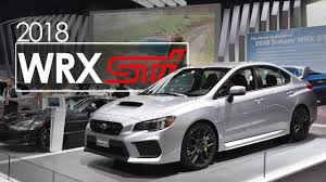 2018 subaru impreza sti. interesting subaru 2018 subaru wrx sti  first look u0026 overview 2017 new york auto show with subaru impreza sti c