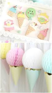 Party Decorations Tissue Paper Balls Love this idea of using upside down party hats and honeycomb 39