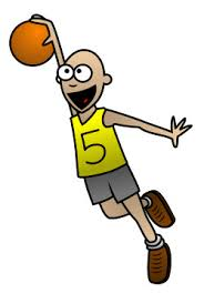 playing cartoon drawing a cartoon basketball player