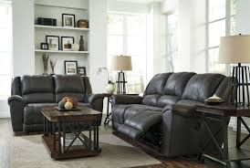 Leather Reclining Living Room Sets Niarobi Gray Reclining Living Room Set From Ashley 4060088 86