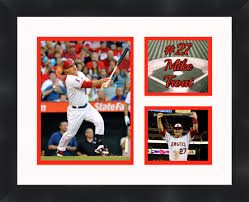 los angeles angels mike trout framed photo poster print 11x14 frames by mail