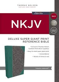 Nkjv Deluxe Reference Bible Super Giant Print Imitation Leather