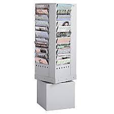 office depot magazine rack. Safco 44 Pocket Steel Rotary Magazine Rack Gray By Office Depot \u0026 OfficeMax N