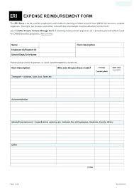 Employee Expense Reimbursement Form Template