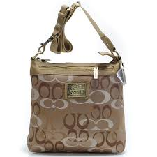 Coach Legacy Swingpack In Signature Large Khaki Crossbody Bags AVK