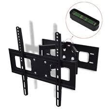 double arm swivel tilt wall mount tv bracket for 32 55 inch led plasma 3d