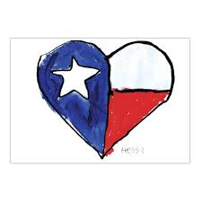 Texas Heart Note Cards