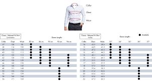 Chest Size Shirt Chart Mens Shirt Size Guide Van Heusen Mens Shirts Size Chart