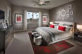 Empty picture frames on wall Wall Template Curated Collection Of Empty Frames On The Wall Brings Class To The Contemporary Bedroom In Gray Decoist Hot Trend 30 Creative Ways To Decorate With Empty Frames