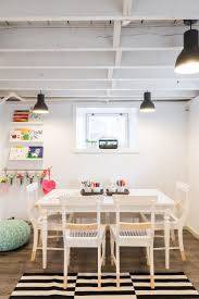 Kids' Art Studio in Low-Ceiling Basement of 1920s Colonial