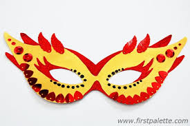 Card Masks To Decorate Masquerade Mask Craft Kids' Crafts FirstPalette 59