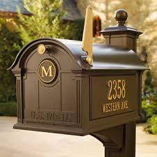 Residential mailboxes side view Curbside Mailbox Balmoral Mailbox Mailbox Shoppe Mailboxes Frontgate