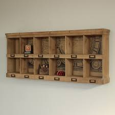 wooden wall storage unit 12 section shelving unit