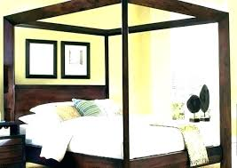 King Size Canopy Bed Frame Black King Canopy Bed Frame Queen For ...