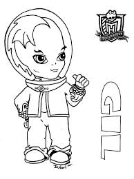 all about monster high dolls baby gil printable coloring sheet from jadedragonne at deviant art