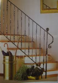 Wrought Iron Stair Railing with Rugs: Wrought Iron Stair Railing .