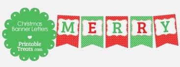 Merry Christmas Banner Letters Printable Thecannonball Org