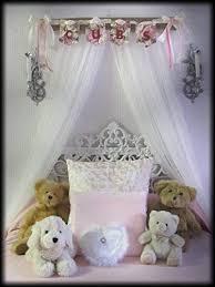 Amazon.com: Shabby Chic Princess Bed Crown Canopy Crib Baby Nursery ...