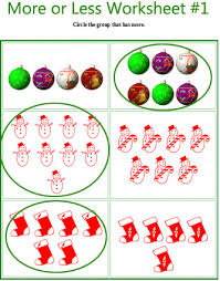 More or less Christmas comparing worksheets for preschool and ...more or less Christmas math worksheets, Christmas math games, free printable Christmas math activities